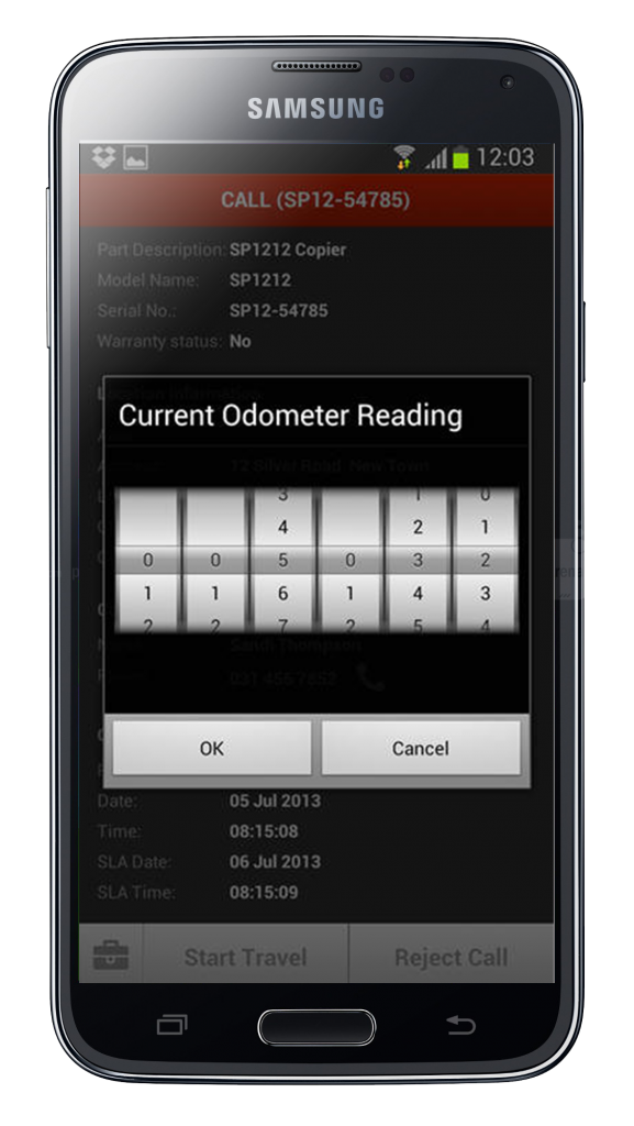 Hand Held Device - Odometer